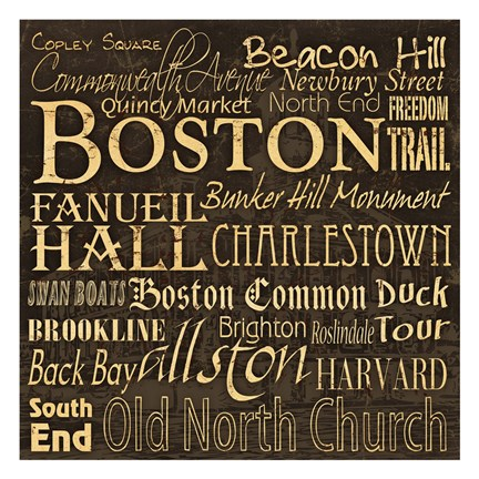 Framed Boston 1 Print