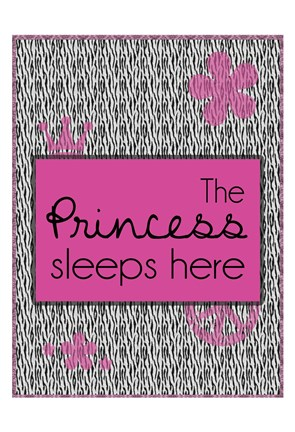 Framed Princess Sleeps Print