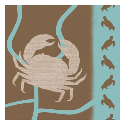 Framed Crab Pattern Print