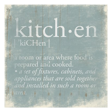Framed Kitchen Definition 2 Print