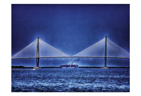 Framed Arthur Ravenel Bridge 3 Print
