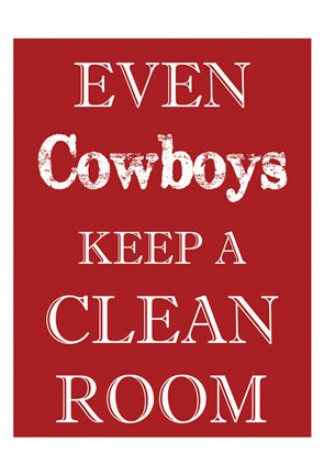 Framed Cowboys Clean Room Print