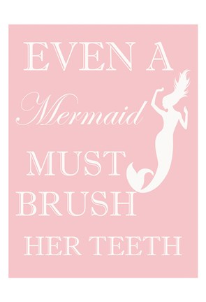 Framed Mermaid Must Brush Print