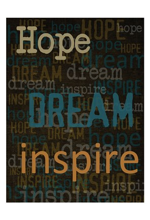 Framed Hope Dream Inspire Print