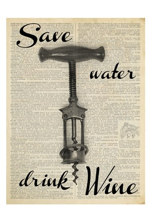 Framed Save Water Print