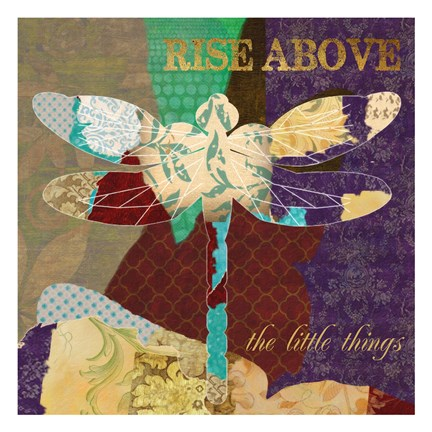 Framed Rise Above Dragonfly Print