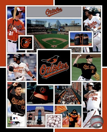 Framed Baltimore Orioles 2015 Team Composite Print