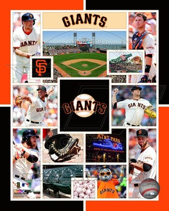 Framed San Francisco Giants 2015 Team Composite Print
