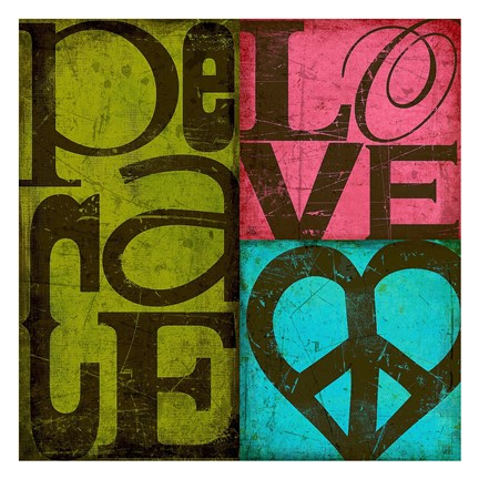 Framed Peace & Love Print