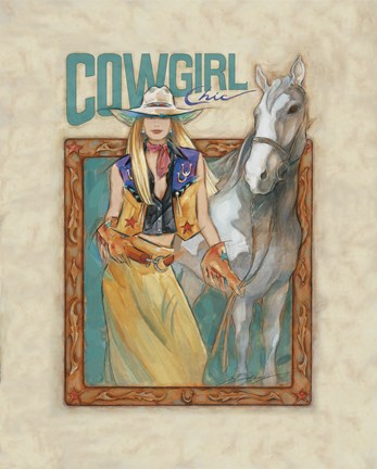 Framed Cowgirl Chic Print