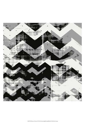Framed Abstract Chevron II Print