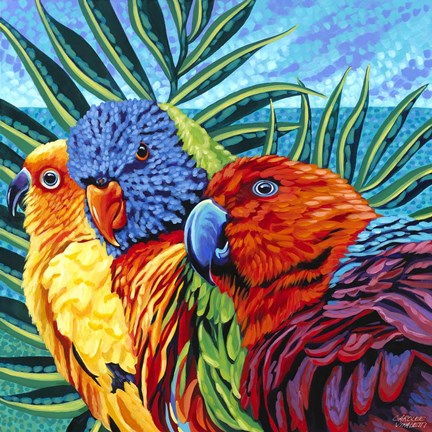 Framed Birds in Paradise I Print