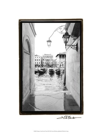 Framed Glimpses, Grand Canal, Venice III Print