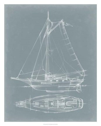 Framed Yacht Sketches IV Print