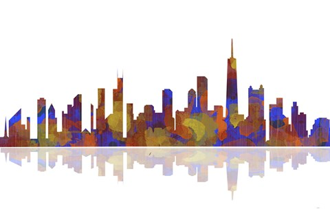 Framed Chicago Illinois Skyline 2 Print