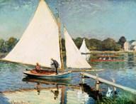 Sailing at Argenteuil, c.1874  Fine Art Print