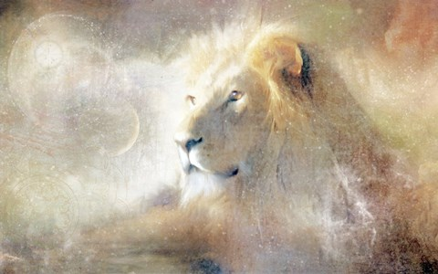 Framed Lion Dust of Dreams Print