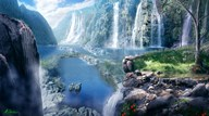 Waterfall Paradise  Fine Art Print