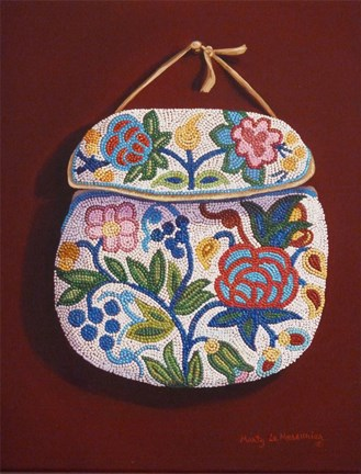Beaded Pouch Fine Art Print By Marty Lemessurier At