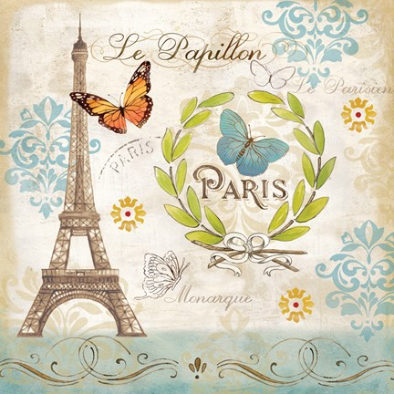 Le Papillon Paris I Fine Art Print By Cynthia Coulter At
