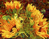 Four Sunflowers Art