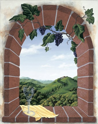 Framed Tuscan Arch Print