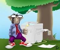 IT Monkey  Fine Art Print
