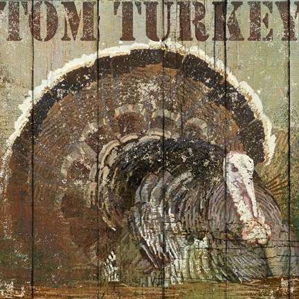 Framed Open Season Turkey Print