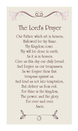The Lord S Prayer Floral Fine Art Print By Veruca Salt