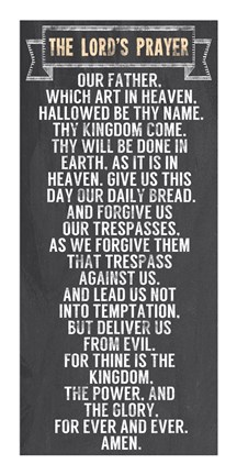 The Lord S Prayer Chalkboard Style Fine Art Print By