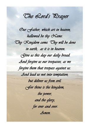 The Lord S Prayer Beach Fine Art Print By Veruca Salt At