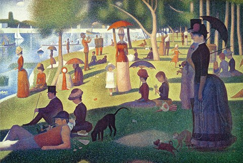 Framed Sunday Afternoon on the Island of La Grande Jatte Print