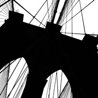 Brooklyn Bridge Silhouette (detail)  Fine Art Print