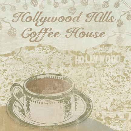 Framed Hollywood Coffee House Print