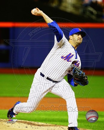 Framed Matt Harvey 2015 Action Print