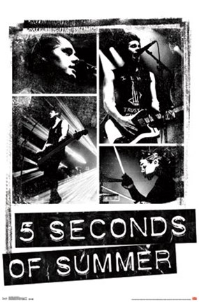 Framed 5SOS - Photo Blocks Print