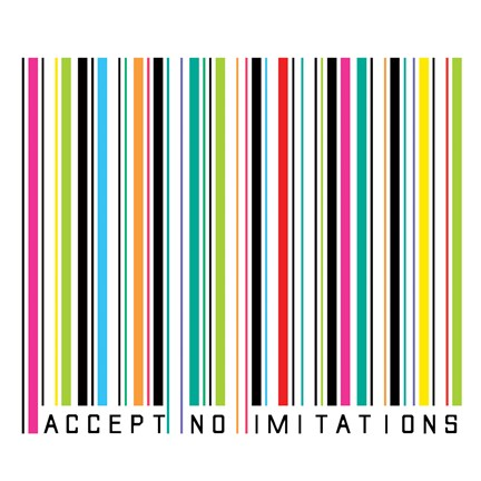 Framed Accept No Imitations Print