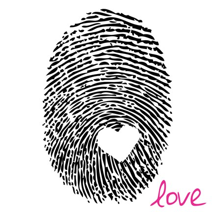 Framed Love Thumbprint Print