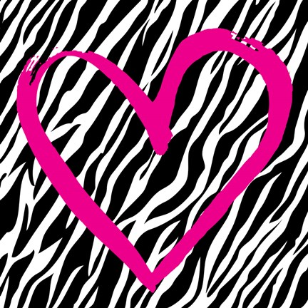 Framed Zebra Love Print