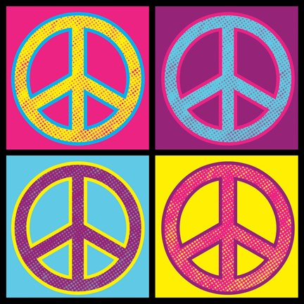 Framed Peace - Colorful Print