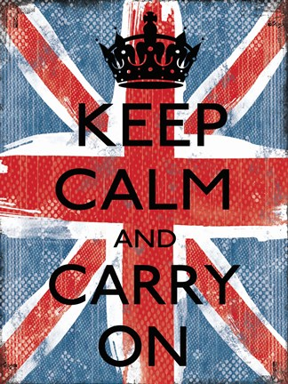 Framed Keep Calm And Carry On 1 Print