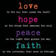 Love Hope Peace Faith 3  Fine Art Print