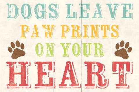 Framed Dogs Leave Paw Prints 1 Print