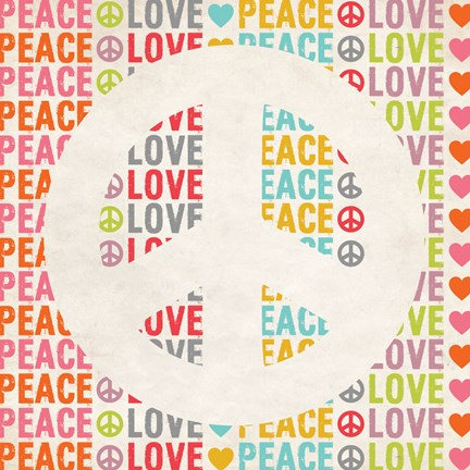 Framed Peace Love 2 Print