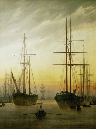 Framed Ships in the Harbour, 1774-1840 Print