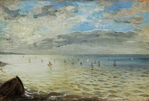 Framed Sea Seen from Dieppe, c. 1852 Print