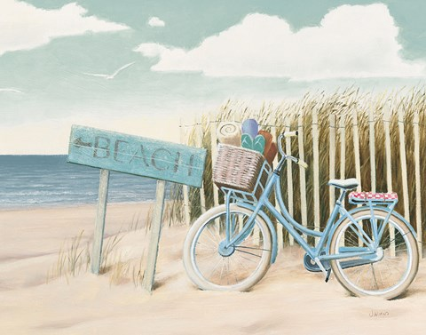 Framed Beach Cruiser II Crop Print