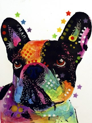 Framed French Bulldog 1 Print