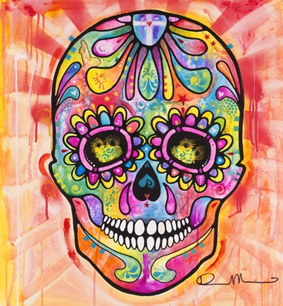 Framed Sugar Skull - Day of the Dead Print