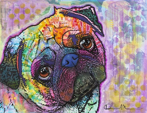 Framed Pug Love Print